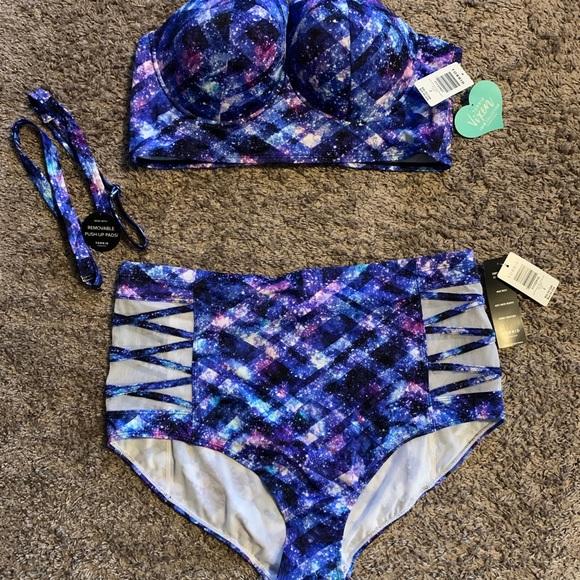Torrid Vixen Geo Space 2pc Swimsuit (Plus 2)